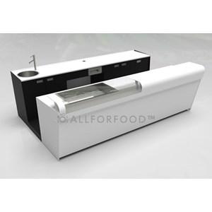 BANCO CASSA BAR NEUTRO - SEMILAVORATO DA PANNELLARE - MOD. BBN/CASSA50 - PIANO IN ACCIAIO INOX AISI 304 SCOTCH BRITE - DIM. Cm L 50 x P 70 x h 95,1