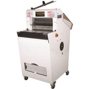 TAGLIERINA BAGUETTE / TAGLIAPANE DA BANCO - Mod. CP 250 - Tagli per ora: 8400/16800 - Spessore fetta da mm 20 a 90 mm - Alimentazione 230V MONOFASE - Potenza W 250 - NORMA CE