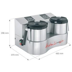 CUTTER CON SISTEMA DI COTTURA - Mod. HOTMIXPRO GASTRO - Multifunzione: mixer, cutter, sistema cottura - Capacità boccale lt 2 - Temperatura +24°/+190° C - Potenza W 2300 - Dimensioni cm L 25,8 x P 31,2 x 29,6h