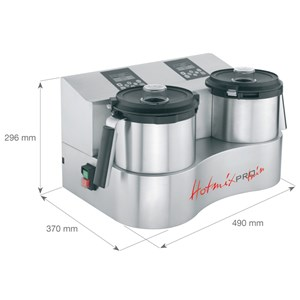 CUTTER CON SISTEMA DI COTTURA - Mod. HOTMIXPRO EASY - Multifunzione: mixer, cutter, sistema cottura - Capacità boccale lt 2 -  Temperatura +24°/+130° C - Potenza W 2000 - Dimensioni cm L 21,2 x P 31,4 x 30,2h