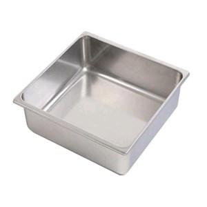 Vasca inox per gelato - Dimensioni cm 33x33 (interno mm 315x300) - Altezza cm 12 - Lt 11