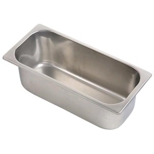 Vasca inox per gelato mm 420x200 (interno mm 400x180)