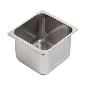 Vasca inox per gelato - Dimensioni cm 16,5x16,5 (interno mm 150x130) - Altezza cm 12 - Lt 2,5