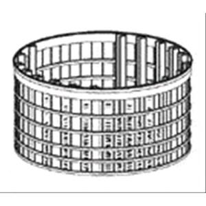CESTELLO RETE MAGLIA LARGA POLIPROPILENE - Dimensioni cm 40 X17