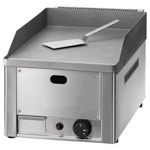 FRY TOP A GAS DA BANCO - Mod. FRY1/LM - SUPERFICIE liscio - POTENZA 4 KW - Piano cottura cm L 32,5 x P 48 - Alimentazione METANO/GPL - Norma CE