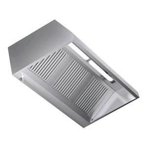 Cappa a parete in acciaio  AISI 430 (senza motore) - filtri a labirinto - Illuminazione al neon