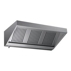 Cappa a parete tipo snack in acciaio  AISI 430 (senza motore) - filtri a labirinto