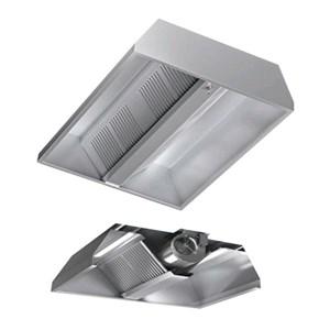 Cappa centrale autoaspirante in acciaio  AISI 430 (con motore) - filtri a labirinto