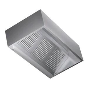 Cappa Cubika a parete in acciaio  AISI 430 (senza motore) - filtri a labirinto