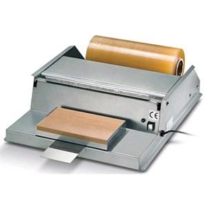 CONFEZIONATRICE - MOD. DISP INOX - DISPENSER A PELLICOLA TERMOSIGILLATRICE INOX - Piano riscaldante cm 30x17,5 - Rotoli film Cm. 45 - Alimentazione MONOFASE 230/50/1 - Norma CE