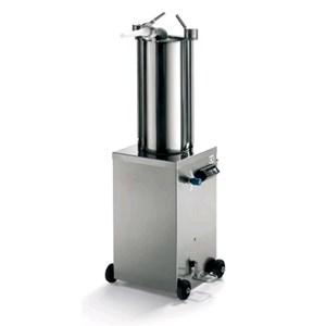 INSACCATRICE IDRAULICA VERTICALE - MOD. 122041 - Capacità cilindro Lt 15 - Diametro Cilindro cm. Ø 20 - Lunghezza cilindro cm. 49,5 - Alimentazione TRIFASE 230-400/50/3 - Norma CE