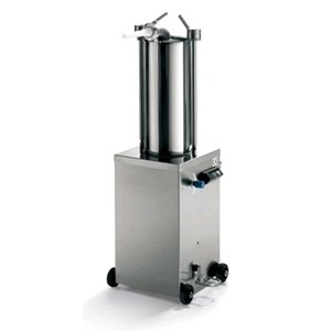 INSACCATRICE IDRAULICA VERTICALE - MOD. 122044 - Capacità cilindro Lt 15 - Diametro Cilindro cm. Ø 20 - Lunghezza cilindro cm. 49,5 - Alimentazione MONOFASE 230/50/1 - Norma CE