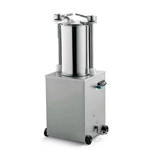 INSACCATRICE IDRAULICA VERTICALE - MOD. 123124 - Capacità cilindro Lt 25 - Diametro Cilindro cm. Ø 26 - Lunghezza cilindro cm. 46 - Alimentazione MONOFASE 230/50/1 - Norma CE