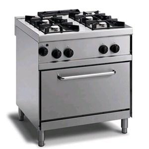 Cucina a gas 4 fuochi con forno a gas Allforfood N74GNQGYH linea M-ECO