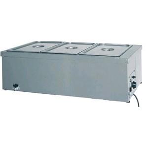 TAVOLA CALDA DA BANCO BAGNOMARIA - MOD. BM - Struttura in acciaio inox - Termostato regolabile 0° - 90°C  - Termostato limite salvaresistenza - Alimentazione V230 50/60 Hz