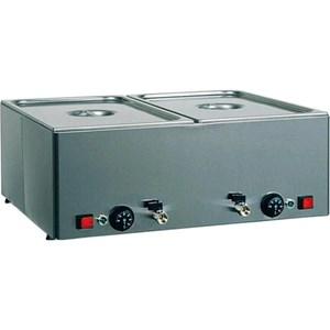 TAVOLA CALDA DA BANCO  BAGNOMARIA - MOD. BMV - Struttura in acciaio inox - Termostato regolabile 0°  90°C  - Temperature differenziate - Alimentazione V230 50/60