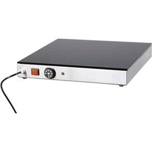 PIANO CALDO - MOD. PV - Struttura in acciaio inox - Piano in vetro temperato - Termostato regolabile 0° 90°C - Alimentazione V230 50/60 Hz