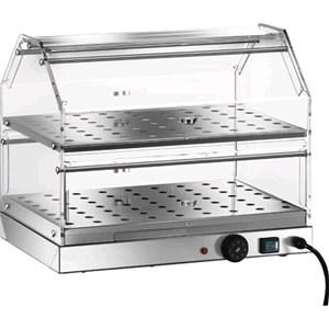 VETRINA RISCALDATA - MOD. VBR2 - Struttura in acciaio inox - N. 2 piani - Riscaldamento con resistenza - Termostato 30° 90° C - Alimentazione V230 50/60 Hz