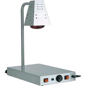 PIANO CALDO CON LAMPADA A RAGGI INFRAROSSI - MOD. PCI4718 - Struttura in acciaio inox - N.1 lampada a raggi infrarossi - Termostato regolabile 0° 90°C - Potenza W 250+250 - Alimentazione V230 50/60 Hz - Dim. cm L 58 x P 33 x h 68