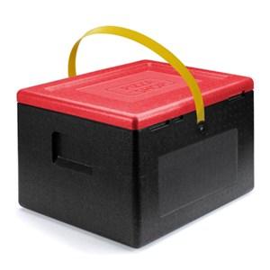 CONTENITORE ISOTERMICO IN POLISTIROLO PER PIZZA - POLIBOX Linea PIZZA BOXSHOP - MOD.120869 - Dimensioni cm L 42 x P 42 x 34,5h - Norma CE - Imballo confezione da n. 1 Unità