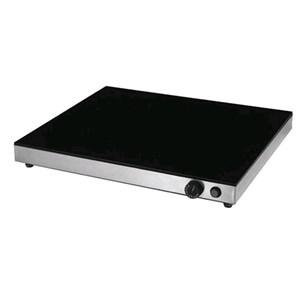 PIANO CALDO ELETTRICO IN VETRO TEMPERATO CON CONTROLLO TERMOSTATICO - Mod. PC-4-640-540 - Dim. Cm L 64 x P 54 x h 6 -  Potenza: 1 x 800W