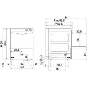 Lavabicchieri meccanica Compack 40L26