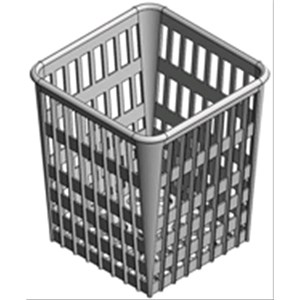 INSERTO POSATE 1 POSTO GRANDE POLIPROPILENE - Dimensioni mm 89 x 113 x 113