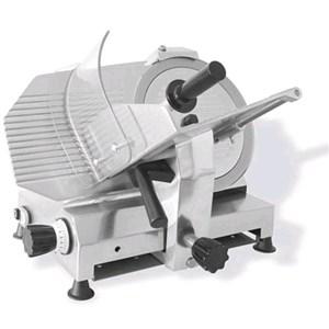 AFFETTATRICE A GRAVITA'  mod. GPR 300 MN (MONOFASE) - Norma CE - RoHS - Lama Ø 300 - Taglio utile mm L 245 x P 195 - Affilatoio fisso