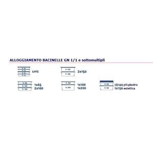 CONTENITORE ISOTERMICO AD APERTURA FRONTALE - MOD. AF7 - PER TRASPORTO DI PASTI MULTIPORZIONE - CALDI, FRESCHI O CONGELATI - GASTRONORM GN1/1, 1/2 e 1/3 - CAPACITA' Lt. 63 - DIM. cm L 44 x P 64 x 48 H - NORMA CE