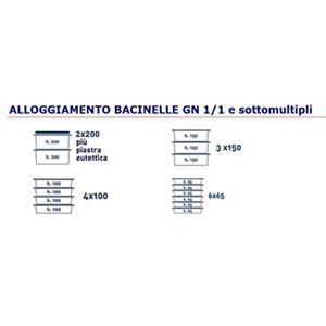 CONTENITORE ISOTERMICO AD APERTURA FRONTALE - MOD. AF12 - PER TRASPORTO DI PASTI MULTIPORZIONE - CALDI, FRESCHI O CONGELATI - GASTRONORM GN1/1, 1/2 e 1/3 - CAPACITA' Lt. 90 - DIM. cm L 44 x P 66,5 x 65 H - NORMA CE