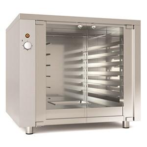 LIEVITATORE - MOD. 12WI - Capacità teglie N. 12 cm 60x40 - Statico - N. 1 porta in vetro - Potenza Kw 1,4 - Alimentazione 220-240V/1/50-60 Hz - Dimensioni esterne cm L 94 x P 89 x 88 h - Norma CE