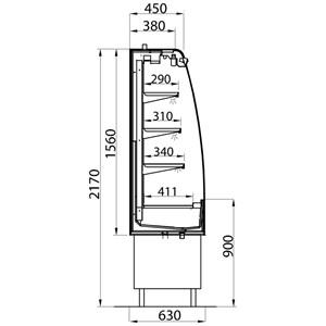 RETROBANCO REFRIGERATO IN ACCIAIO INOX 304 - VENTILATO - CON ANTINE SCORREVOLI - MOD. LINUS 2 VT Standard - Spalle in acciaio inox - Temperatura +2°/+6° C - SENZA MOTORE