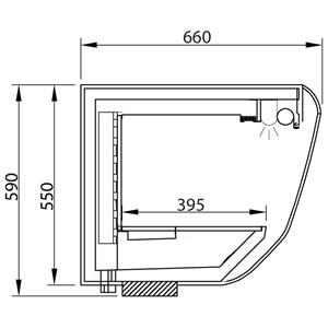 ESPOSITORE PENSILE REFRIGERATO VENTILATO - MOD. MINNIE VT - in acciaio inox AISI 304