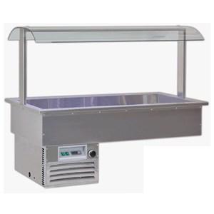 VASCA ESPOSITIVA DA INCASSO REFRIGERATA - MOD. SAMBA RUGIADA - PER GASTRONOMIA - Temp. °C -1/0 - ALIMENTAZIONE MONOFASE V 230/1/50 Hz - REFRIGERAZIONE STATICA - Gas refrigerante R290 - SBRINAMENTO MANUALE
