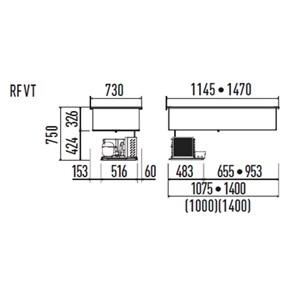VASCA ESPOSITIVA DA INCASSO REFRIGERATA A ISOLA - MOD. VENEZIA DI/RFVT - PER GASTRONOMIA - VASCA IN ACCIAIO INOX AISI 304 - CONTROLLO TEMPERATURA DIGITALE - TEMP. °C 0/+3 - ALIMENTAZIONE MONOFASE 230V/1/50HZ - REFRIGERAZIONE VENTILATA - GAS REFRIGERANTE R290