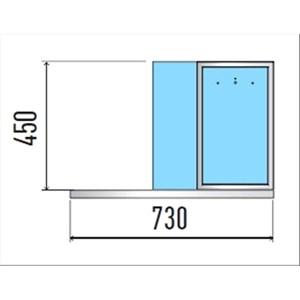 VASCA ESPOSITIVA DA INCASSO CON PIANO REFRIGERATO A ISOLA - MOD. VENEZIA SERVITO DI/PRF - PER GASTRONOMIA - SOVRASTRUTTURA FISSA - PIANO IN AGGLOMERATO - CONTROLLO TEMPERATURA DIGITALE - TEMP. °C 0/+4 - ALIMENTAZIONE MONOFASE 230V/1/50HZ - REFRIGERAZIONE STATICA - GAS REFRIGERANTE R290