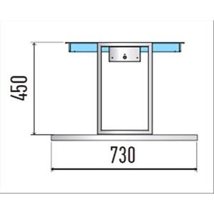 VASCA ESPOSITIVA DA INCASSO REFRIGERATA A ISOLA - MOD. VENEZIA SVT FISSA DI/PRF - PER GASTRONOMIA - SOVRASTRUTTURA FISSA - PIANO IN AGGLOMERATO - CONTROLLO TEMPERATURA DIGITALE - TEMP. °C 0/+4 - ALIMENTAZIONE MONOFASE 230V/1/50HZ - REFRIGERAZIONE STATICA - GAS REFRIGERANTE R290