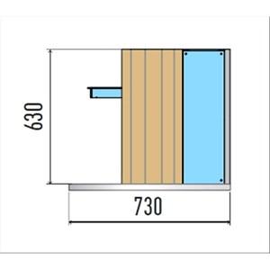 VASCA ESPOSITIVA DA INCASSO A MURO CON PIANO REFRIGERATO - MOD. VENEZIA MURO DI/PRF - PER GASTRONOMIA - PIANO IN AGGLOMERATO - CONTROLLO TEMPERATURA DIGITALE - TEMP. °C 0/+4 - ALIMENTAZIONE MONOFASE 230V/1/50HZ - REFRIGERAZIONE STATICA - GAS REFRIGERANTE R290