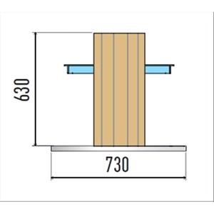 VASCA ESPOSITIVA DA INCASSO REFRIGERATA A ISOLA - MOD. VENEZIA DI/RF - PER GASTRONOMIA - VASCA IN ACCIAIO INOX AISI 304 - CONTROLLO TEMPERATURA DIGITALE - TEMP. °C +2/+7 - ALIMENTAZIONE MONOFASE 230V/1/50HZ - REFRIGERAZIONE STATICA - GAS REFRIGERANTE R290