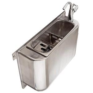 Lavaporzionatore carenato - acciaio inox per gelateria - Dimensioni cm 37,5x19,5 - Altezza cm 27