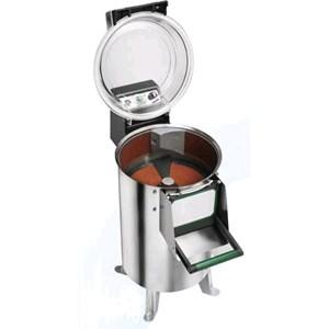 PELAPATATE Mod. PPN25 - Alimentazione MONOFASE o TRIFASE - Capacità carico kg 25 - Produzione oraria kg/h 450 - (Dotato di un piattello patate) - Potenza hp 1,5 / 1100W - Norma CE