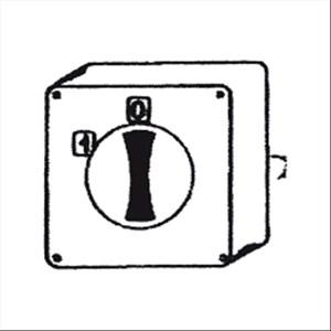 Interruttore - Dimensioni cm L 11,5 x P 10 x H 11,5