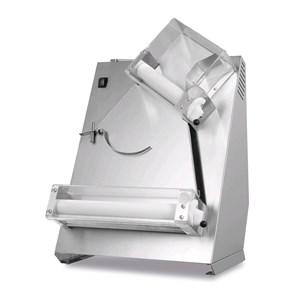 STENDIPIZZA - MOD. TQS40 - 2 coppie di rulli (rulli superiori inclinati) - Diametro pizza cm 26/40 - Peso pasta gr 80/400 - Potenza motore W 370 - Monofase 230V/50Hz - Norma CE - Peso Kg 37