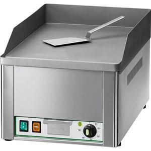 FRY TOP ELETTRICO DA BANCO - Mod. FRY1/LC - Piastra liscia al cromo - POTENZA 3 KW - Piano cottura cm L 32,5 x P 48 - Alimentazione MONOFASE - Norma CE