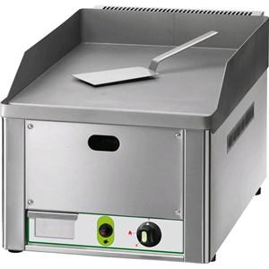 FRY TOP A GAS DA BANCO - Mod. FRY1/LMC - Piastra liscia al cromo - POTENZA 4 KW - Piano cottura cm L 32,5 x P 48 - Alimentazione METANO/GPL - Norma CE