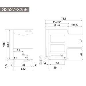 Lavabicchieri elettronica Compack X25ER