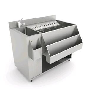 MODULO PREPARAZIONE COCKTAIL - CON VASCA - MOD. 130101 - Dim. Cm L 108 x P 56 x h 83,5 - Peso Kg. 67 - Volume: 0,6