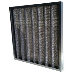 Filtro pieghettato G2 in metallo - Lavabile - Grado di separazione: 75%