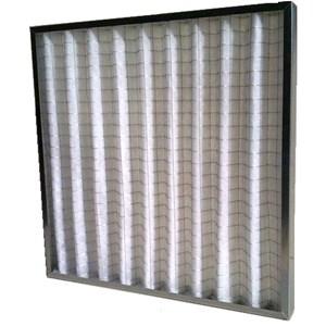 Filtro a panno pieghettato G4 - Massima superficie filtrante con ingombro ridotto - Telaio metallico