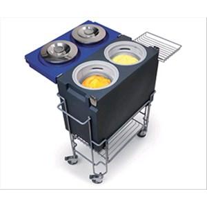 CONTENITORE ISOTERMICO - MOD. COOLBOX - Struttura in polietilene - Coperchio in polietilene -  Aatto per conservare gelato fino a 4 ore con coperchio chiuso - Dimensioni cm L 60 x P 30 x 51,4 H